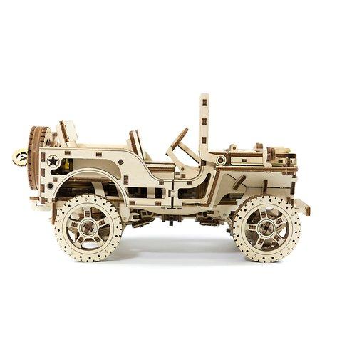 Деревянный механический 3D-пазл Wooden.City Автомобиль 4х4 Превью 3